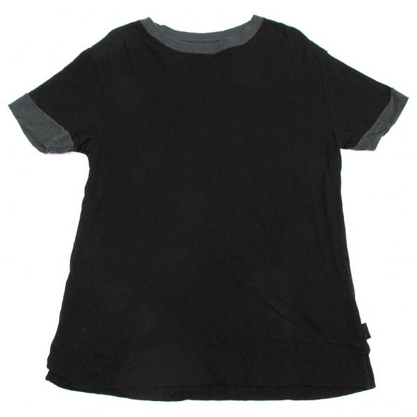 フルカウントFULL COUNT 切替リバーシブルTシャツ 黒M位