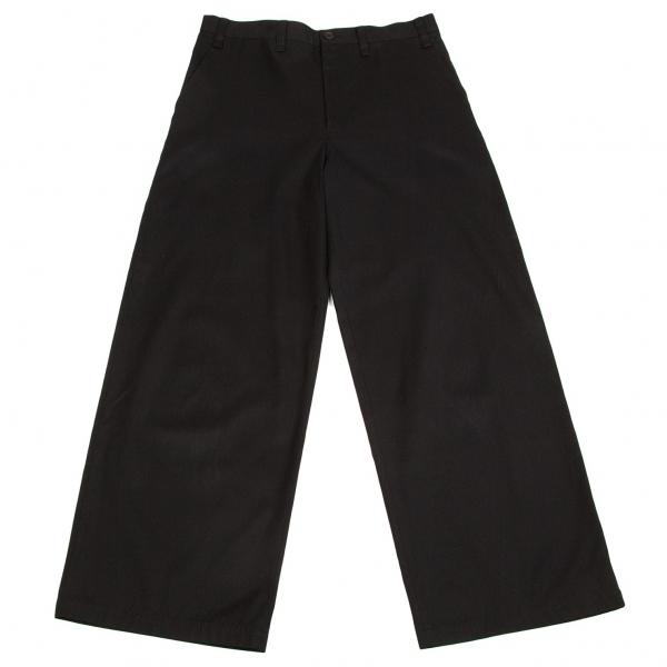 ワイズY's コットンワイドパンツ 黒3