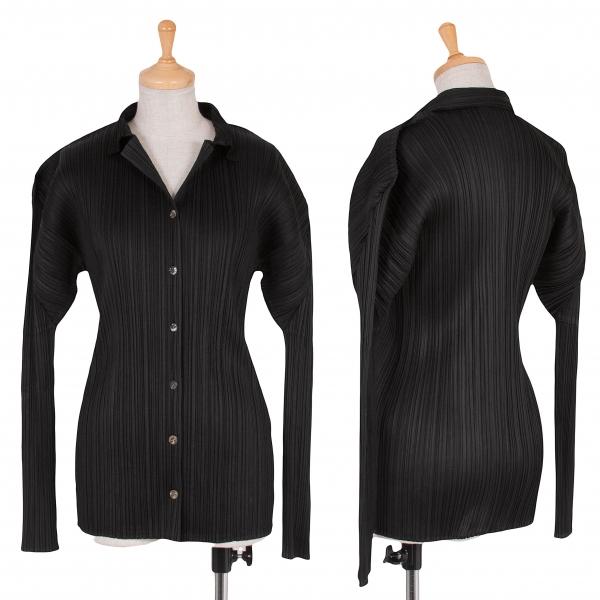 プリーツプリーズPLEATS PLEASE プリーツ長袖シャツ 黒4