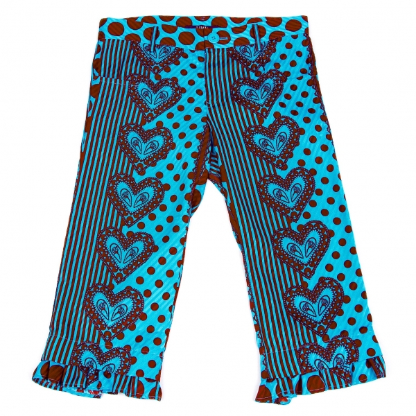 LIMI FEU Volante Estampado De Corazón Pantalones Talla  S (K-57584)  de moda