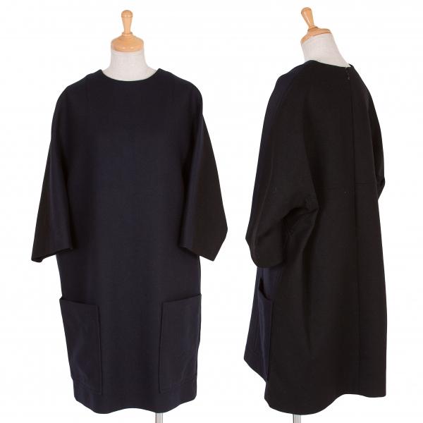 Y's Wool Bi-color Dress Size S-M(K-57745)