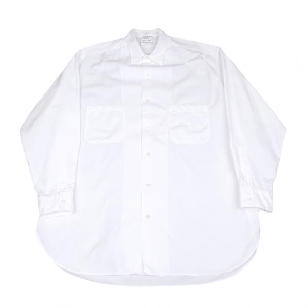 【SALE】ヨウジヤマモト プールオムYohji Yamamoto POUR HOMME コットンダブルポケットシャツ 白L位