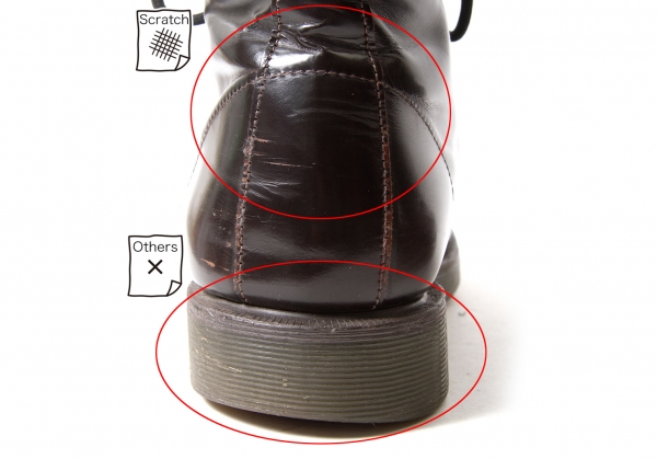 Y's for Uomo Glass Stivali Pelle Half Stivali Glass Size 7.5(K-58166) dad264