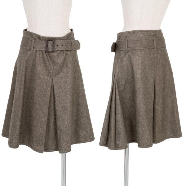 Jean-Paul GAULTIER FEMME Wool Poly Belted Skirt Size 40(K-58239)