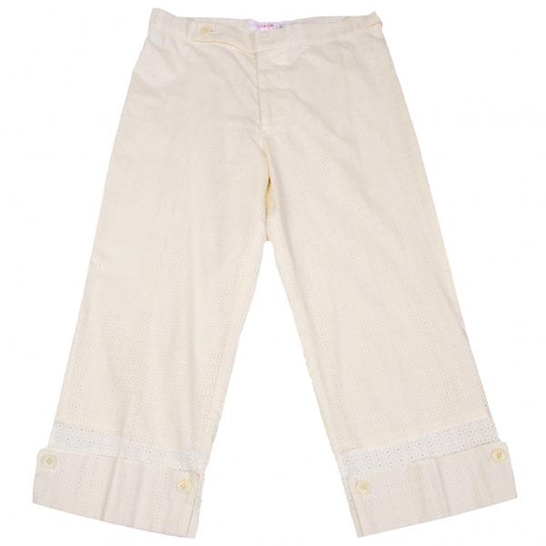 Yohji Yamamoto black Lace cropped Pants Size 1(K-58430)