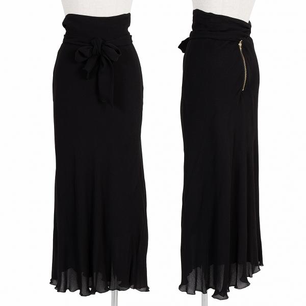 Jean-Paul GAULTIER FEMME Ribbon Flare Skirt Size 40(K-58829)
