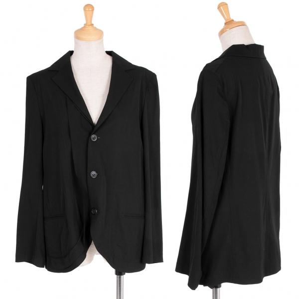 ワイズY's ウール3Bジャケット 黒1