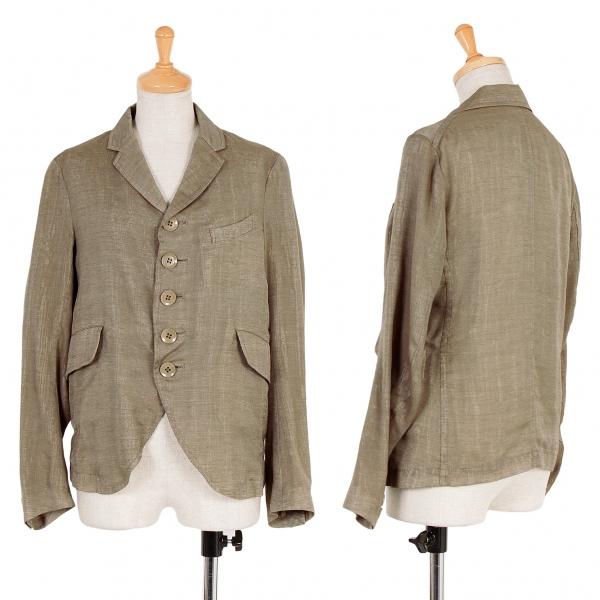 【SALE】ワイズY's オーガンジーレイヤードジャケット モカベージュ1