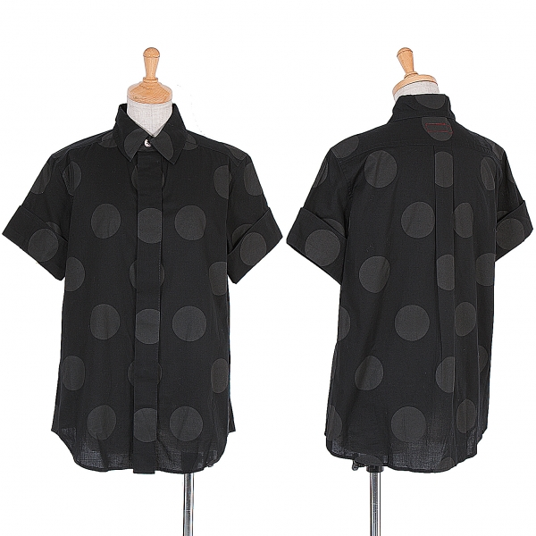 Y's Short Sleeve Dot Printed Shirt Größe 2(K-59036)