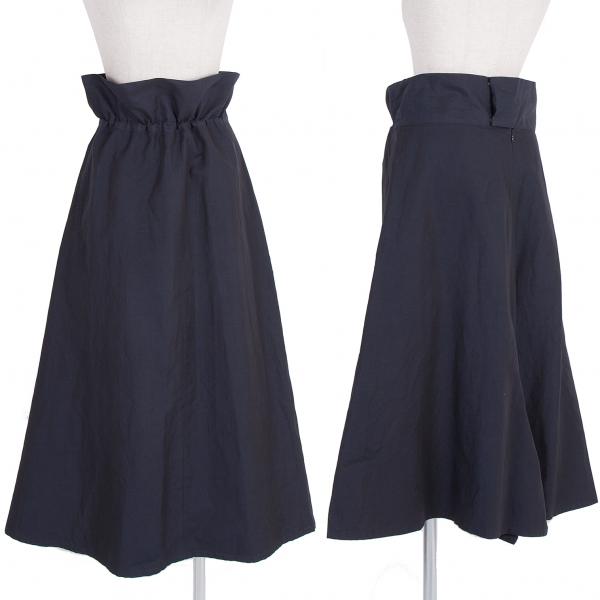 【SALE】ヨウジヤマモトノアールYohji Yamamoto NOIR コットンリネンウエスト紐スカート 濃紺1