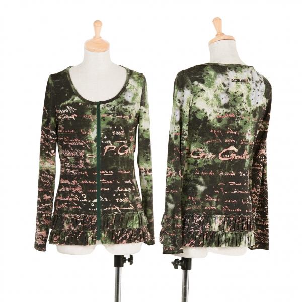 Jean-Paul GAULTIER Graphic Print Zip Up T Shirt Größe 40(K-59081)
