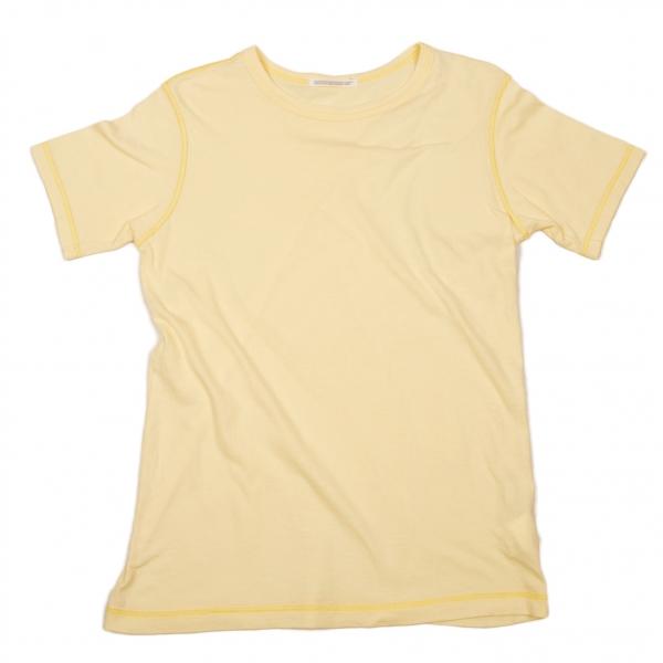 ワイズY's ロック見せ縫いTシャツ 淡黄3