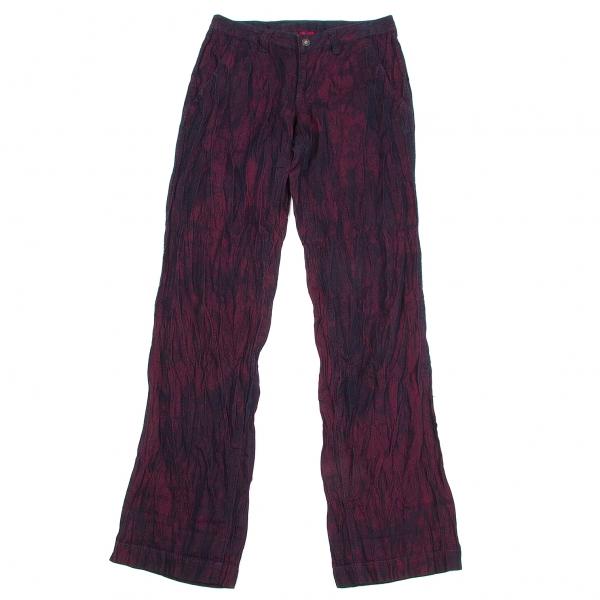 ISSEY MIYAKE Jacquard Crease Finish Pants Size 2(K-59882)