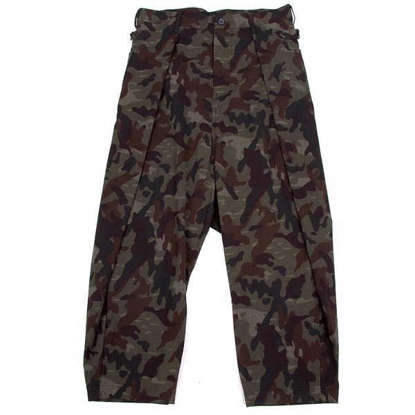 Y's Camouflage Dropped Credch Pants Size 1(K-60777)