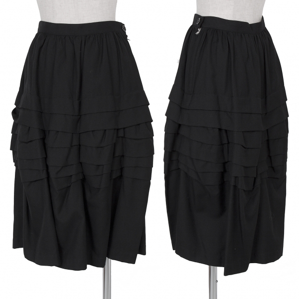 Tricot COMME des GARCONS Wool Tencel Tiered Skirt Size S(K-60910)