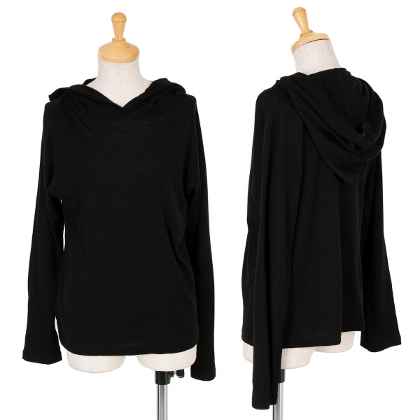 HIROKO KOSHINO Hood Design Knit Sweater Size 11(K-61117)