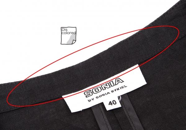 Jakke Knit Størrelse No Rykiel k Rib collar Sonia Linen 61168 40 nwEBYp7q