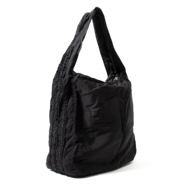 ヨウジヤマモト ノアールYohji Yamamoto NOIR ブレード装飾ショルダーバッグ 黒