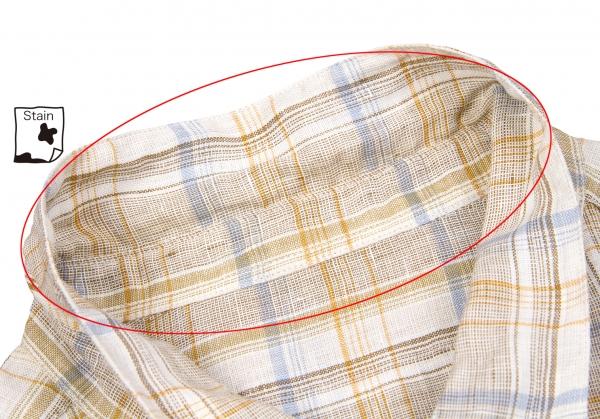 lino manga corta cuadros talla de de k camisa L Papas a 61278 Yq5xOqH