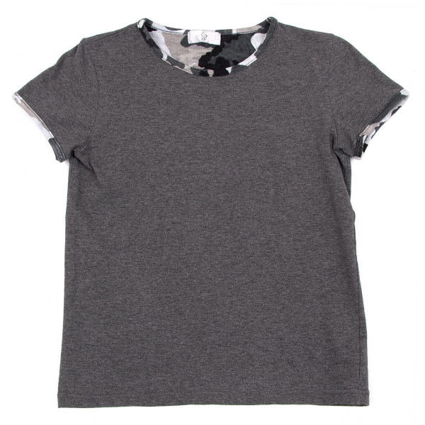 【SALE】ジジリgigli カモフラパイピングTシャツ 杢グレー他38(M)
