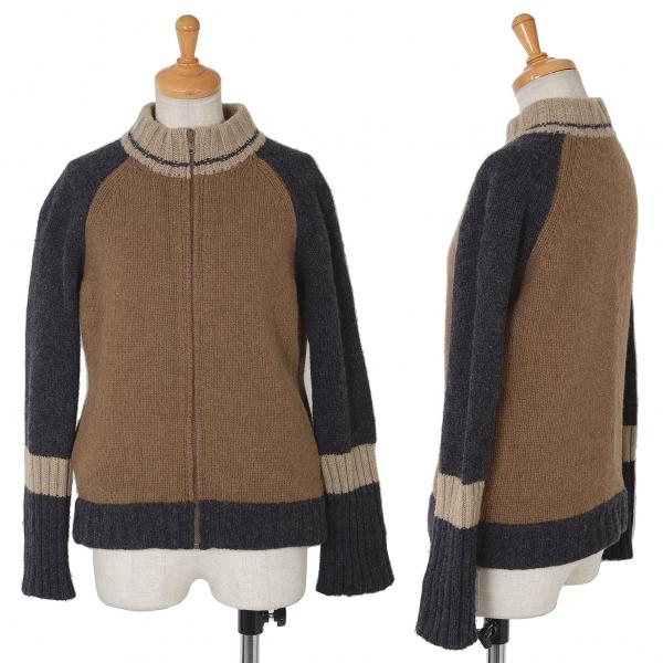 Y's Multi Farbe Front Zip Knit Sweater Größe 3(K-61642)