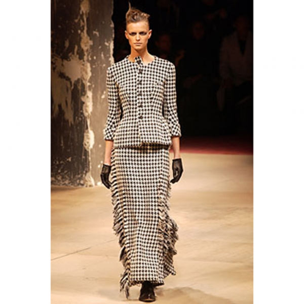 Yohji Yamamoto FEMME Wool Plaid Skirt Größe 1(K-61851)