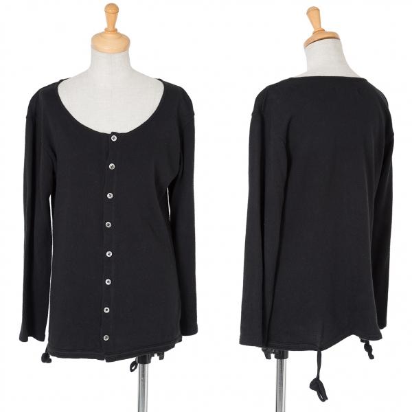 Yohji Yamamoto black Hem Code Cardigan Size 3(K-61852)
