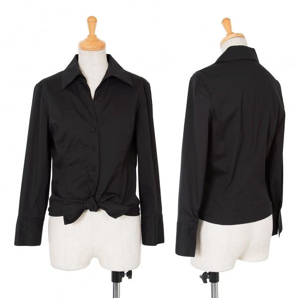 FOXEY BOUTIQUE Knit Design Cotton Stretch Long Sleeve Shirt Size 40(K-61957)