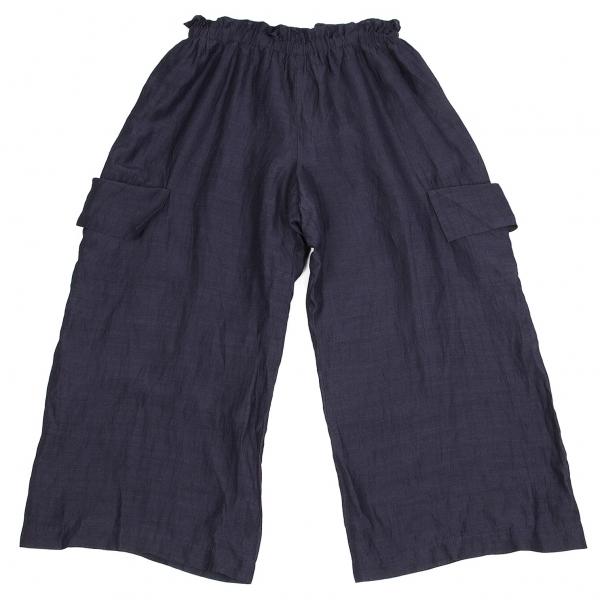 ワイズY's リネン混紡イージーカーゴパンツ 紺3