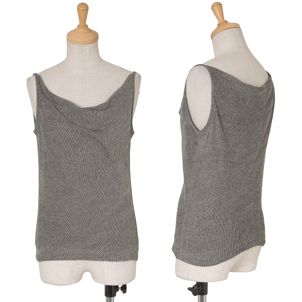 Y's LayeROT Design Cotton Knit Sleeveless Top Größe 3(K-62071)