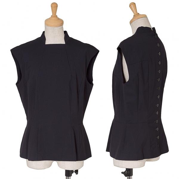 Y's Button Design Sleeveless Shirt Größe XS-S(K-62073)