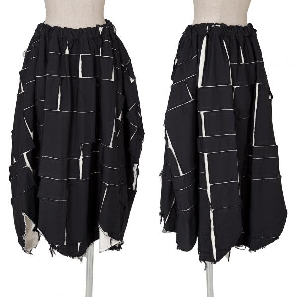 COMME des GARCONS Patchwork Design Skirt Größe S(K-62096)