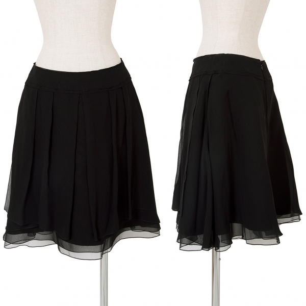 FOXEY BOUTIQUE See-through Silk Layered Skirt Size 40(K-62168)