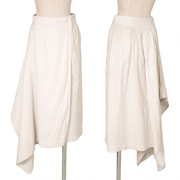 ISSEY MIYAKE Cotton Gauze Wrap Skirt Size M(K-62193)