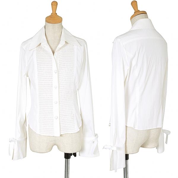 FOXEY NEW YORK Stretch Long Sleeve Shirt Größe 40(K-62392)