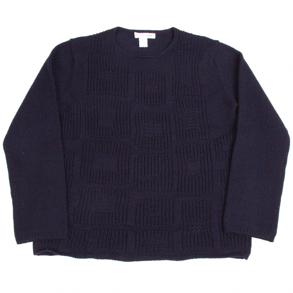 COMME des GARCONS SHIRT Wool Knit Sweater Größe L(K-62438)