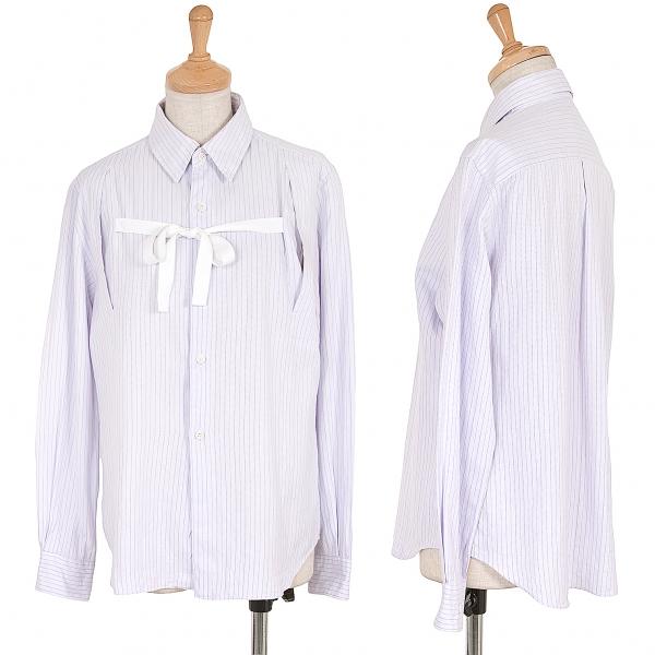 Robe COMME des GARCONS Long Sleeve Ribbon Shirt Size M(K-62497)