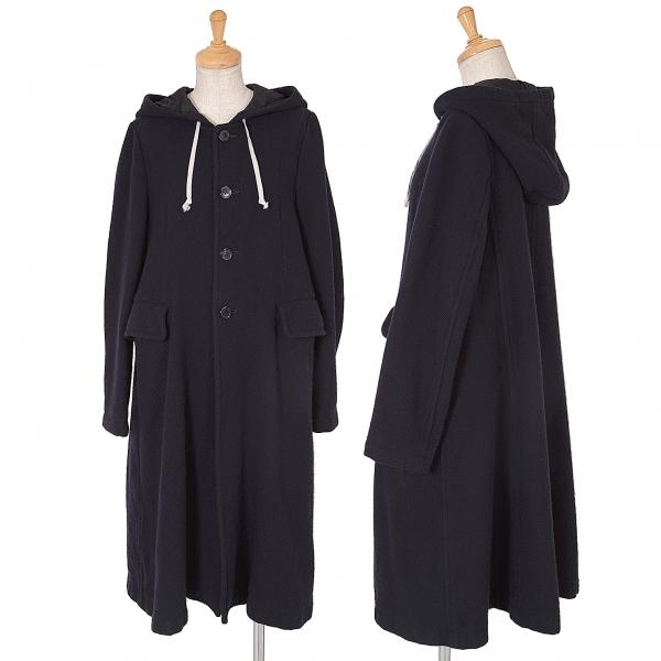 COMME des GARCONS Wool Hooded Coat Coat Coat Size S(K-62689) d25510