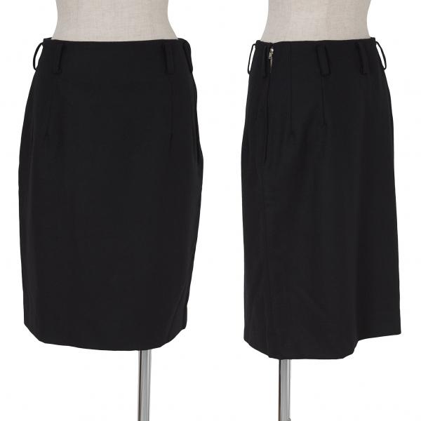 Y's Belt Loop Wool Skirt Size M(K-62784)