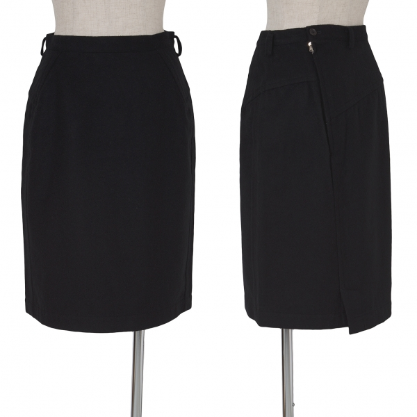Y's Side Zip Switched Skirt Size M(K-62786)