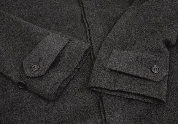 Y's Cashmere Blend Balmacaan Balmacaan Balmacaan Size 3(K-62792) e1b819