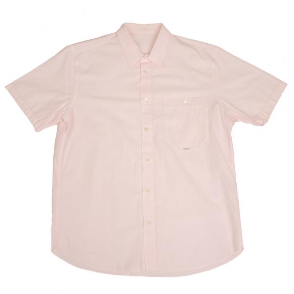 パパスPapas ドビー織り半袖シャツ 薄ピンク48M
