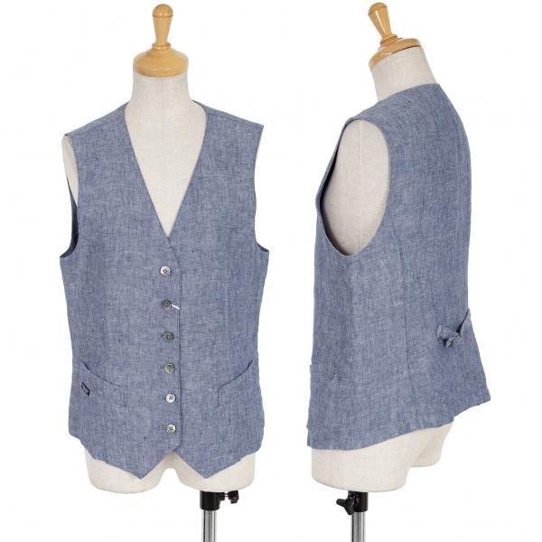Mademoiselle NON NON Linen Vest Size M(K-63032)