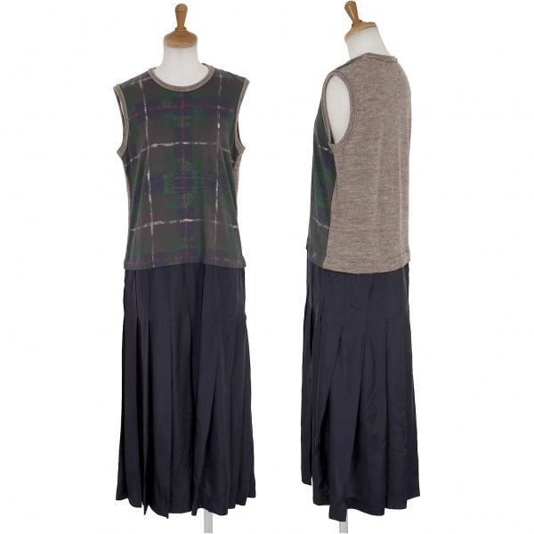 Tricot COMME des GARCONS Pleated Shift Dress Size S(K-63042)