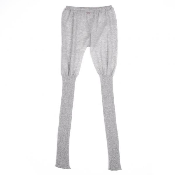 ISSEY MIYAKE HaaT See-through Linen Rib Leggings Size 2(K-63142)