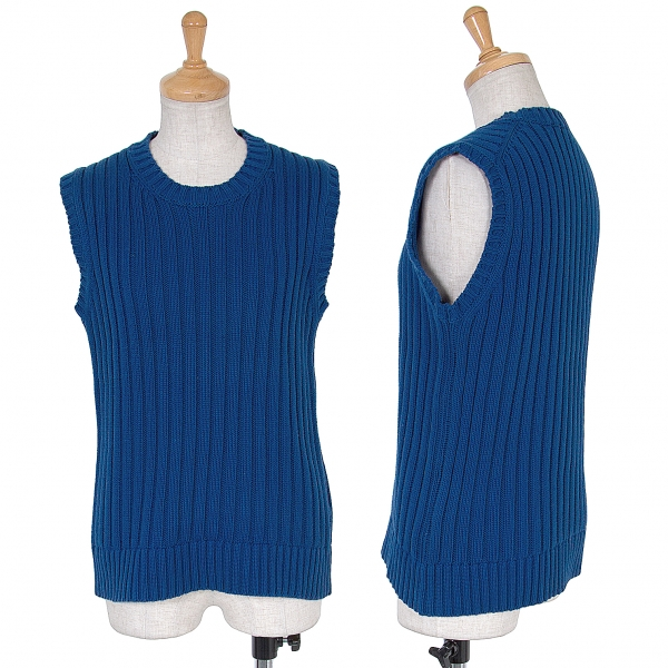 Tricot COMME des GARCONS Cotton Sleeveless Knit Größe SM(K-63196)