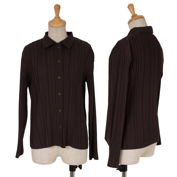 ISSEY MIYAKE  WHITELABEL Pleats Long Sleeve Shirt Size 2(K-63338)