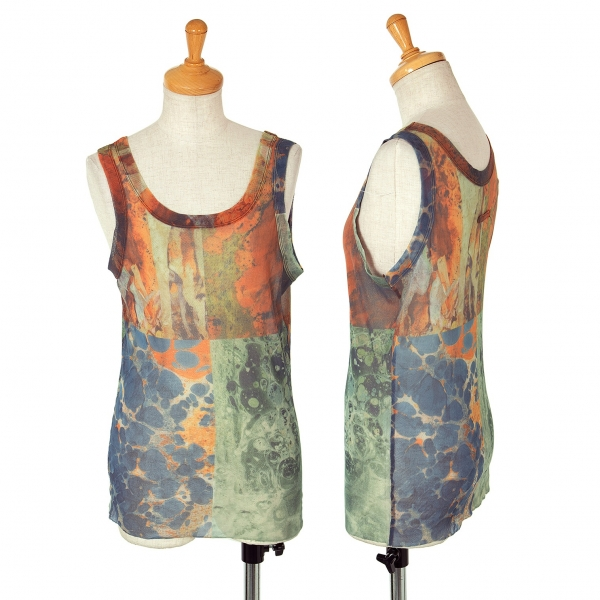 Unbranded Printed Power-Net Tank Top Size S-M(K-63627)