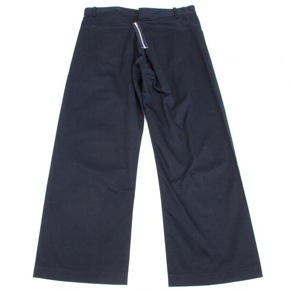 【SALE】ワイズY's コットンチノバックジップスーパーワイドパンツ 紺2