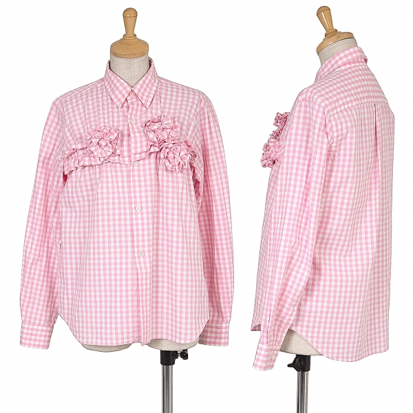 COMME des GARCONS Corsage Checked Long Sleeve Shirt Größe XS(K-63871)